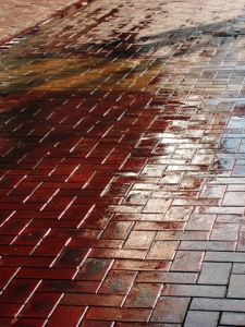 Wet pavement (14 Jul 10)