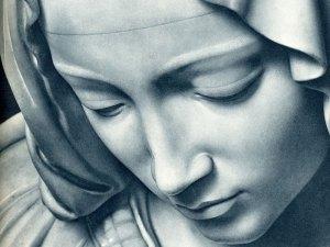 Pieta by Michelangelo (detail)
