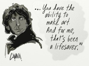 Neil Gaiman by Michael Cavna