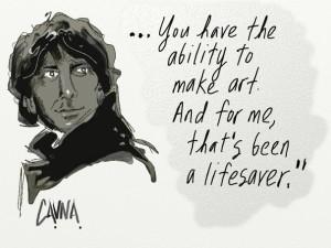 Neil Gaiman by Michael Cavna