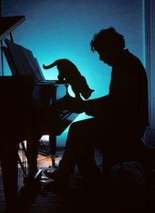 Philip Glass (and cat)