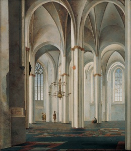 Pieter Jansz Saenredam: Interior of the Buurkerk, Utrecht (1645)