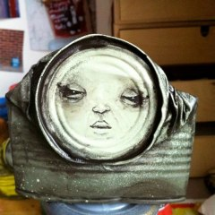 One of the remarkable faces on cans produced by street artist, My Dog Sighs