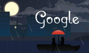 Debussy is celebrated in Google's latest doodle. Photograph: Google
