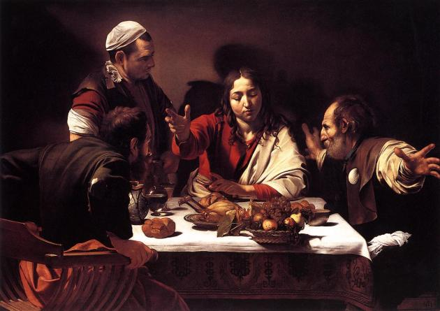 The Supper at Emmaus (1601), Michelangelo Merisi da Caravaggio