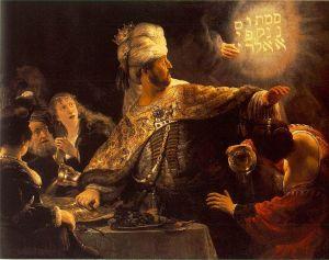 Rembrandt: Belshazzar's Feast (circa 1635-1638)