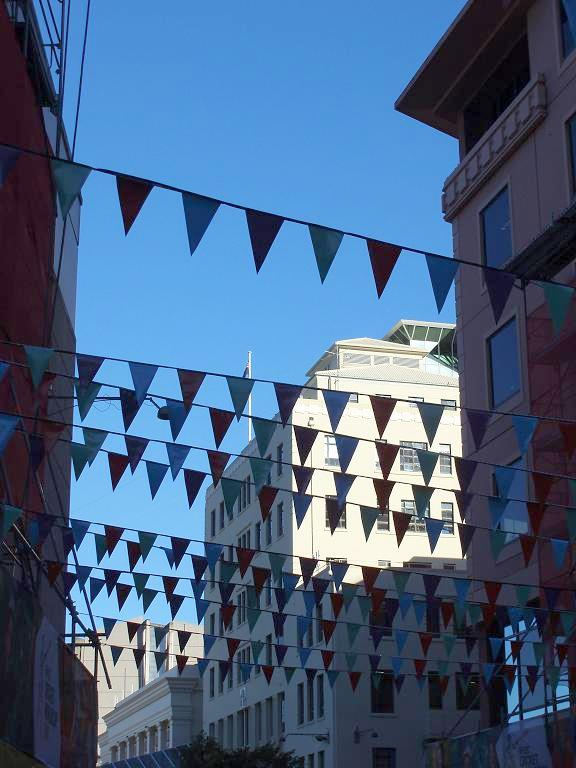 pennants in Civic Square (17 February 2015)